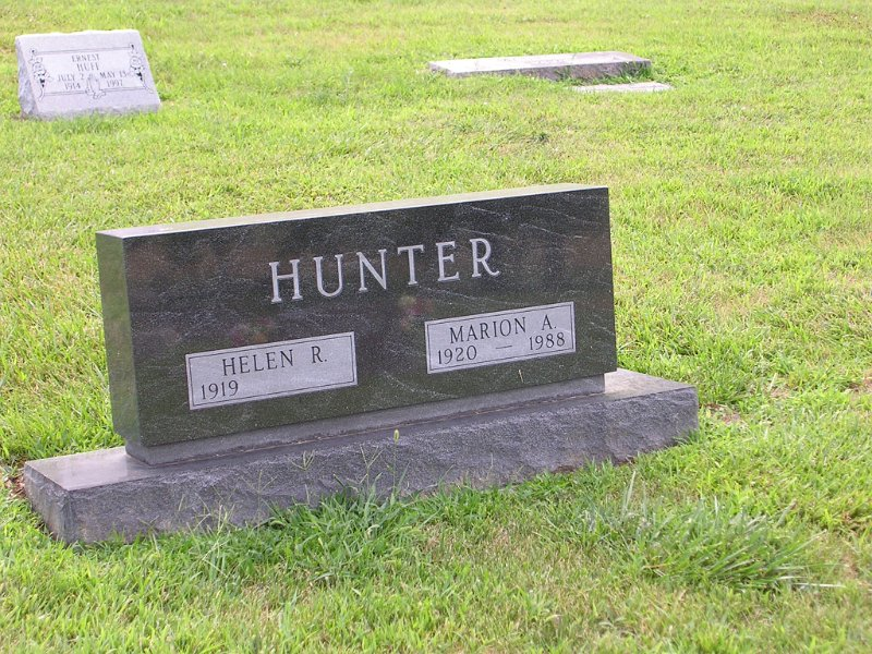 Marion A. HUNTER Grave Photo