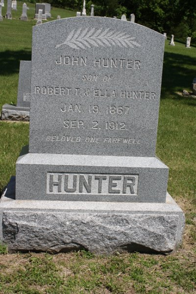John HUNTER Grave Photo