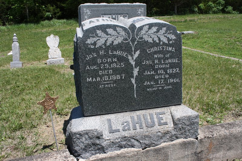James H. LAHUE Grave Photo