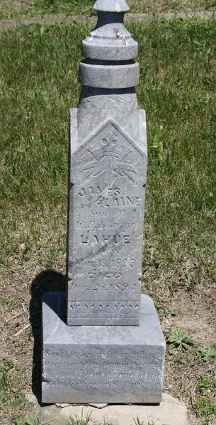 James Blaine LAHUE Grave Photo