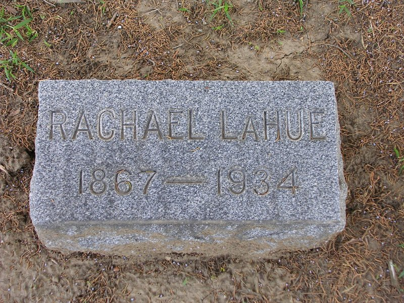 Rachael LAHUE Grave Photo